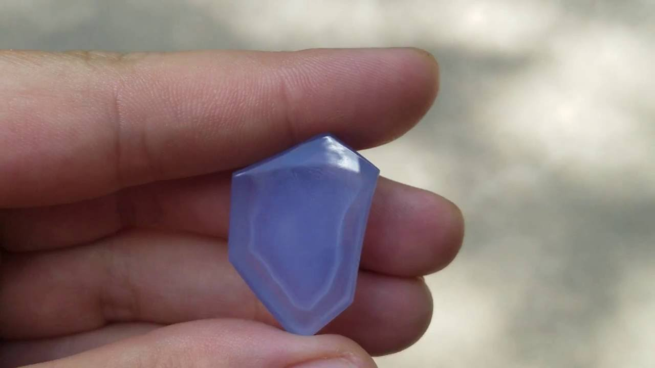 Stunning Ellensburg Blue Agate Cabochon From Kgc Youtube