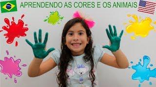 BRINCANDO E APRENDENDO CORES E OS ANIMAIS - Learn Colors with Paint and Teach Alphabet Animals