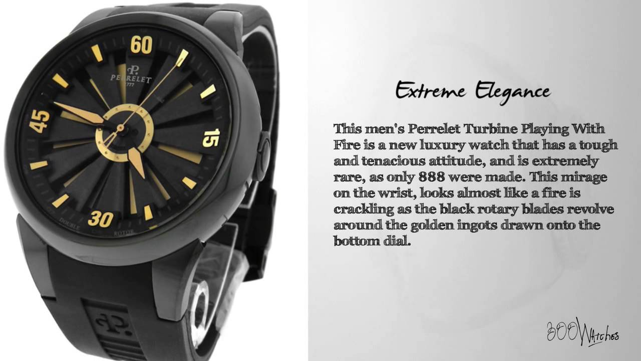 View This Perrelet Turbine A8008 1 Play With Fire Dlc Pvd Automatic Rare Watch