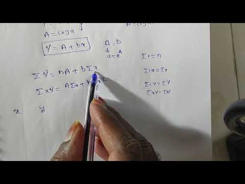 Curve Fitting  Of An Exponentially Curve  Y= Ae^(bx) / Fitting Y= Ae^(bx) By Method Of Least Squares