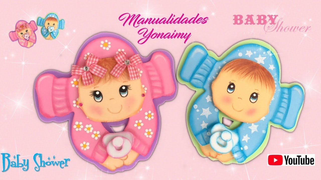 LINDOS BEBES PARA RECUERDOS DE BABY SHOWER - YouTube