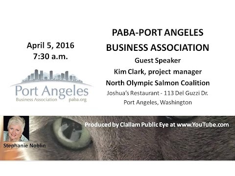 2016 04 05 PABA Kim Clark, project manager of the North Olympic Salmon Coalition
