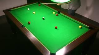2ème Exercice billard anglais 8 pool blackball(rentrer toutes les billes sans toucher les bandes)