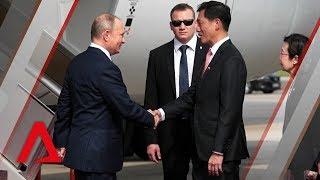 Russian President Vladimir Putin arrives in Singapore