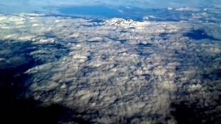 Вид из самолета высота 10,000 метров
