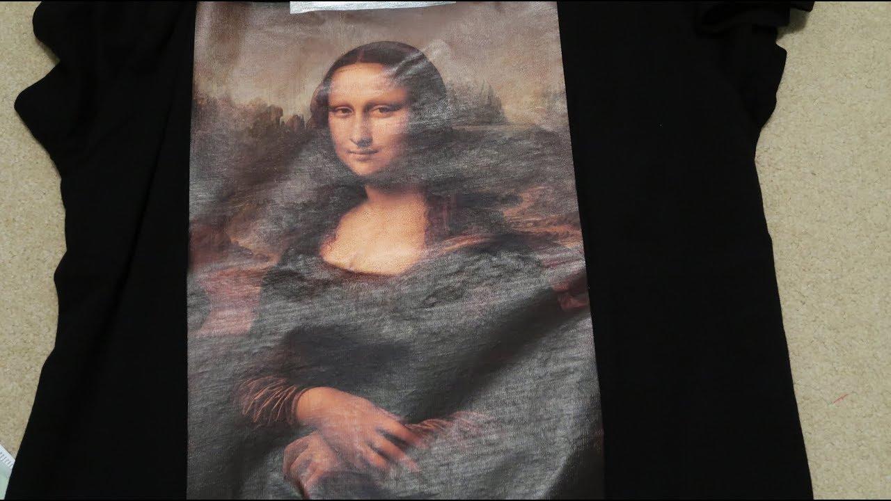 c0bf45d5e29 Off-White Black Monalisa T-Shirt Pickup Unboxing - YouTube