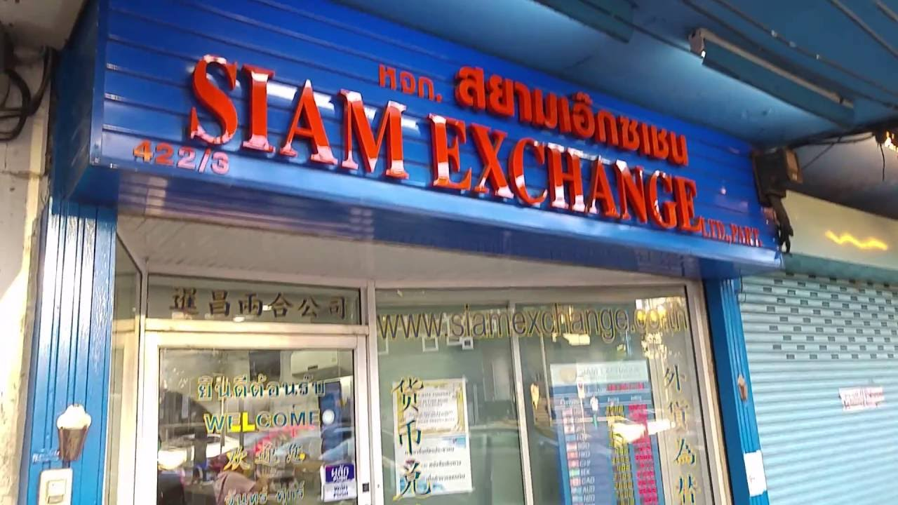 Money Changer In Bangkok Thailand