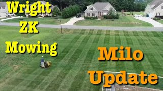 Wright ZK Mower Stripes - Milorganite Before and After Test Plot Re...