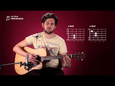 Gitarre lernen - 8/21 Die Akkorde e-Moll und a-Moll