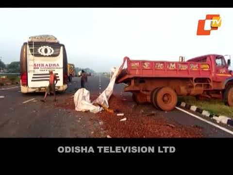 Two killed, 19 passengers hurt in separate road mishaps in Odisha