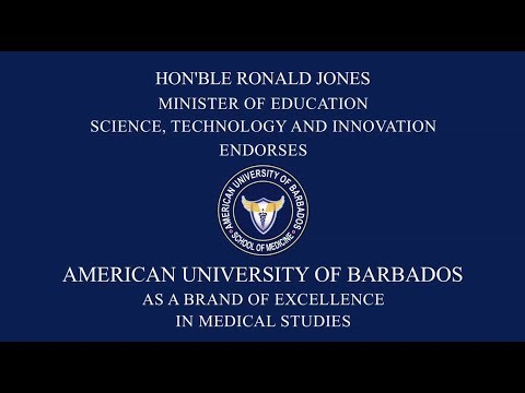 American University of Barbados Endorsed by Minister as a Brand of Excellence