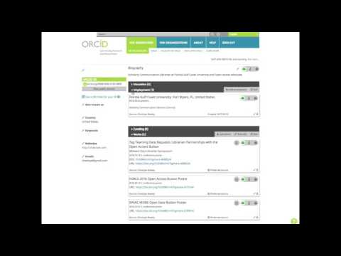 Creating an ORCID Profile