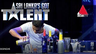 Cocktail Act by Indika Marasinghe | Sri Lanka's Got Talent Audition 01 #SLGT Thumbnail