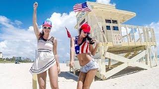 Русские в США. Нудистский пляж Майами. Орландо и Новый Орлеан