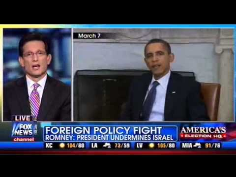 Eric Cantor: Where Is The Leadership On Israel, President Obama?