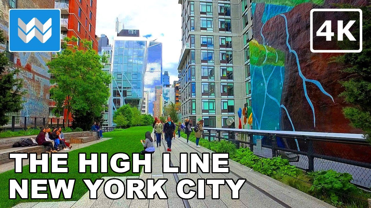 Walking Tour Of The High Line In Manhattan New York City 4k