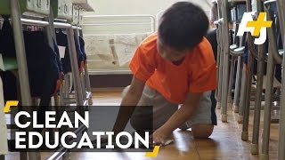 Japanese Students Clean Classrooms To Learn Life Skills