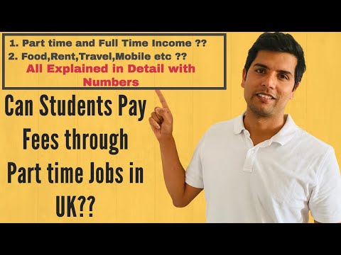 Students Can Pay Fees through Part time Jobs in the UK? | St