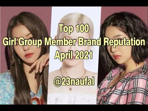 Top 100 Girl Group Member Brand Reputation April 2021 rekorea @23naufal
