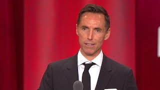 Steve Nash's Basketball Hall of Fame Enshrinement Speech