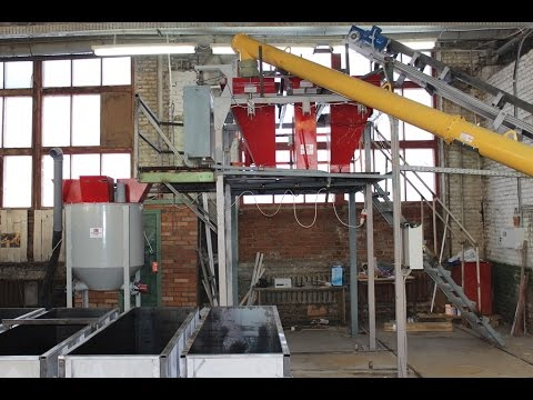 The production line of non-autoclaved aerated concrete