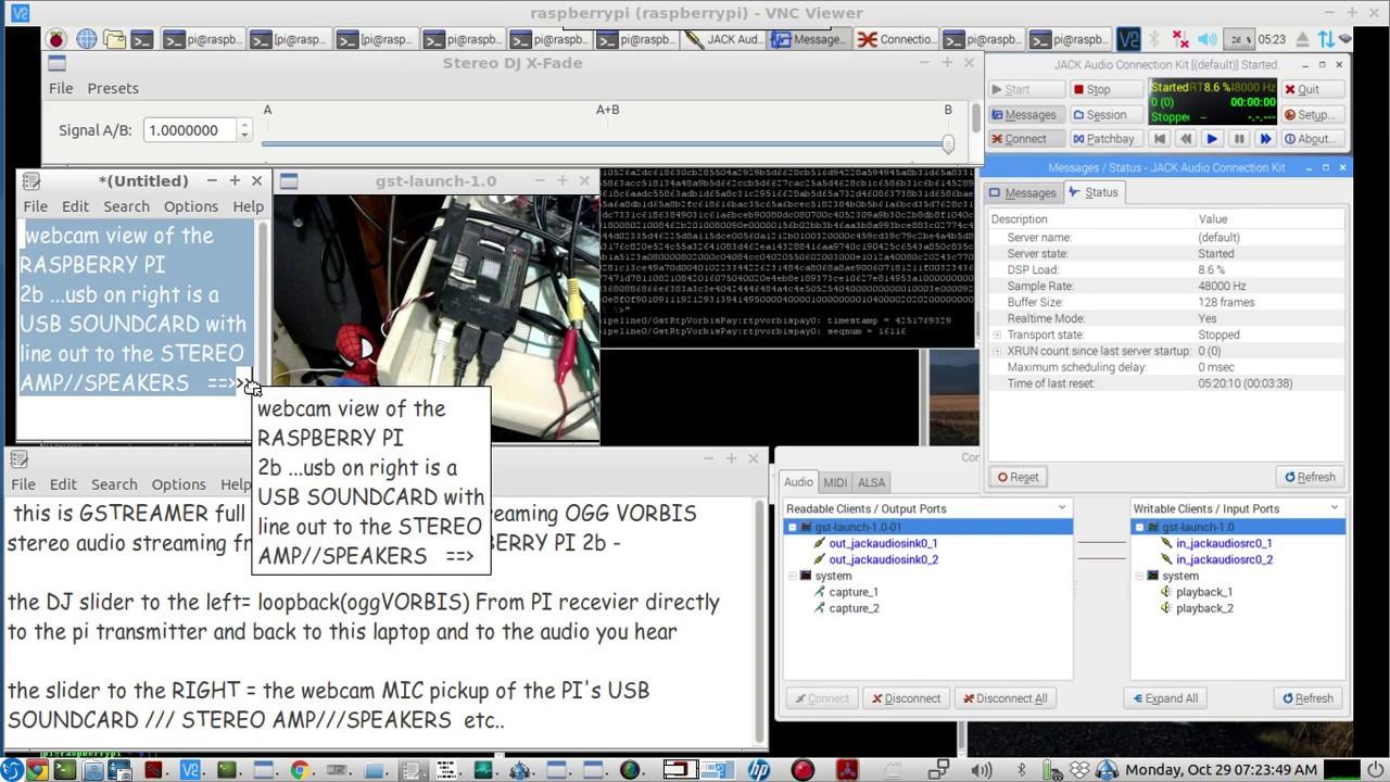 Gstreamer VORBIS AUDIO CODEC high quality audio streaming - on a RASPBERRY  PI - LIVE demo