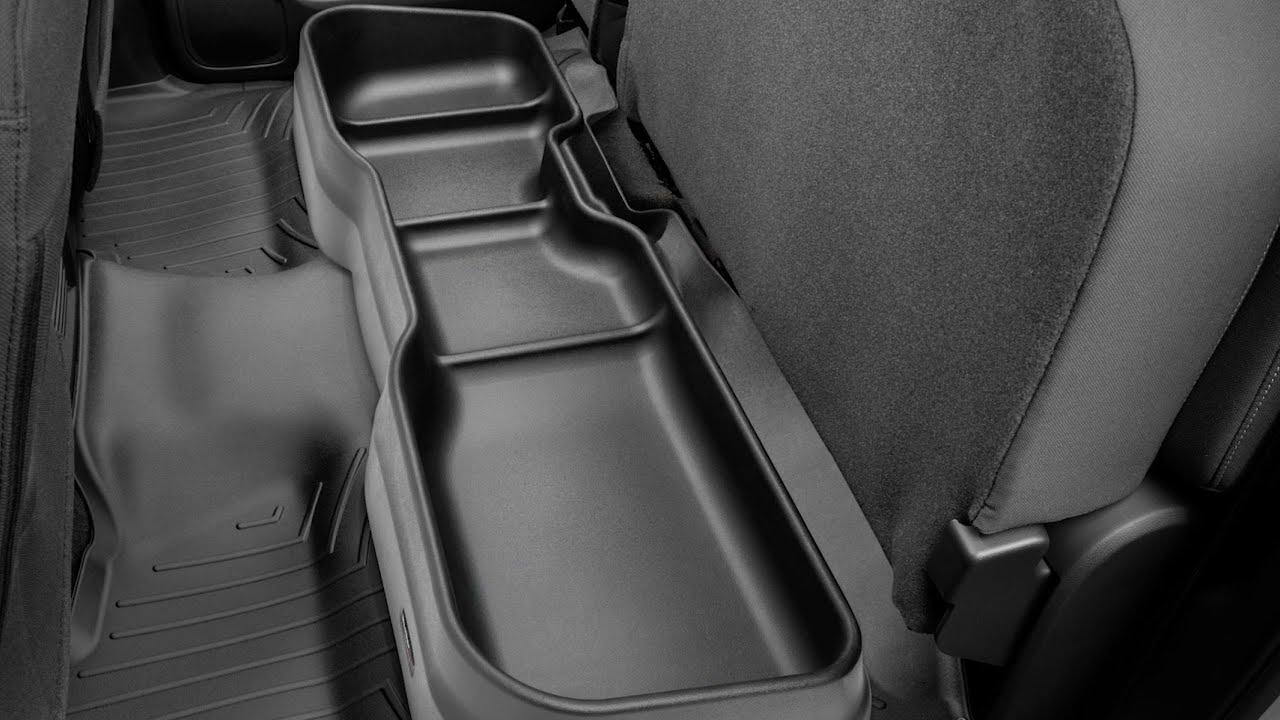 F150 Under Seat Storage >> 2019 Ford F 150 Custom Fit Under Seat Storage Solution Weathertech
