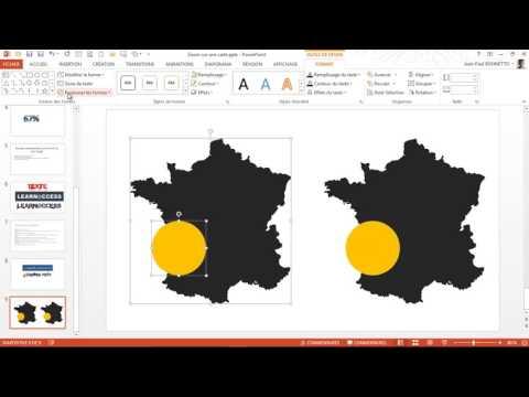 Powerpoint  - Réaliser un  Zoom personnalisé sur une  carte