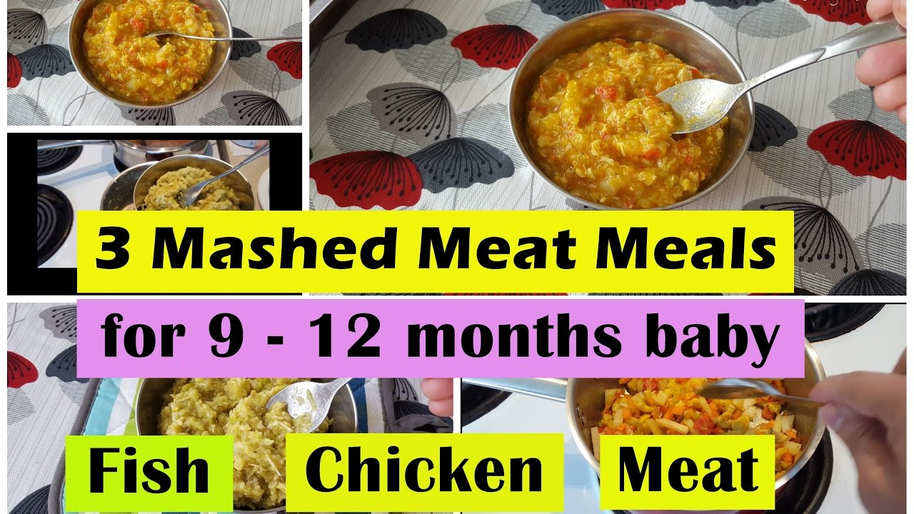 3 fishchickenmeat meals for 9 12months baby fish chicken meat 3 fishchickenmeat meals for 9 12months baby fish chicken meat meal for 9101112 months baby youtube forumfinder Image collections