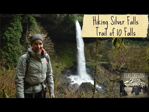 Hiking at Silver Falls State Park  Trail of 10 Falls
