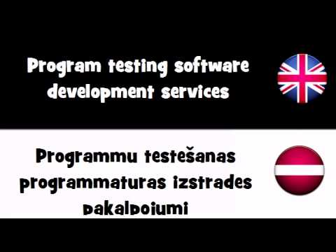 VOCABULARY IN 20 LANGUAGES = Program testing software development services
