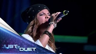 Download lagu Sarah dancing and rapping to Demi Lovato's song - Audition 1 - Just Duet