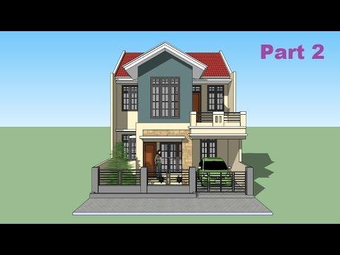 sketchup tutorial house design part 2 youtube. Black Bedroom Furniture Sets. Home Design Ideas