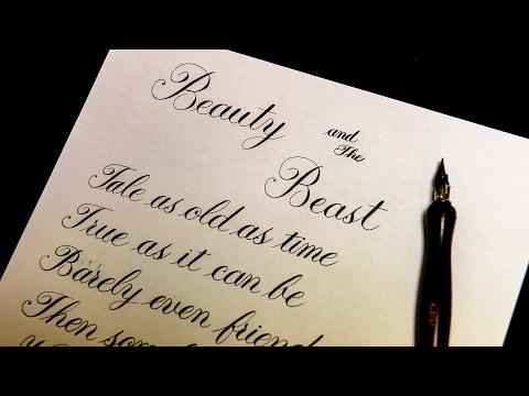 Beauty and The Beast lyrics Calligraphy