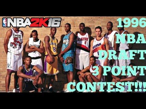 NBA 2K16: The 1996 NBA Draft Three Point Contest! Nash, Allen, Kobe, Iverson, Peja, Francis! #PS4
