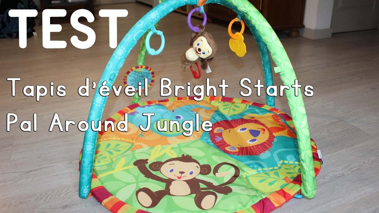 Test Tapis D Eveil Bright Starts Pal Around Jungle Youtube
