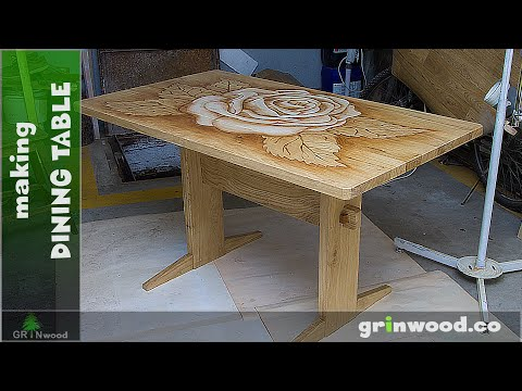 DIY Dining Table - Making Oak Dining Table without Screws