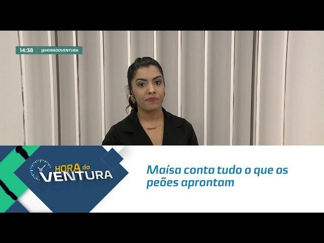 Maísa conta tudo o que os peões aprontam na Fazenda da Record  - Bloco 02