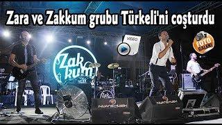 Zara ve Zakkum grubu Türkeli'ni coşturdu