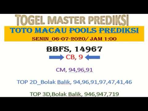 PREDICTION OF TOTO MACAU TOGEL JULI 7, 2020 | TOTO MACAU