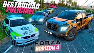 TENTEI FUGIR!! - DESTRUIÇÃO POLICIAL! - FORZA HORIZON 4