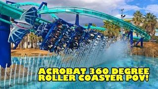 Acrobat Flying Roller Coaster 360 Degree POV Nagashima Spaland Japan