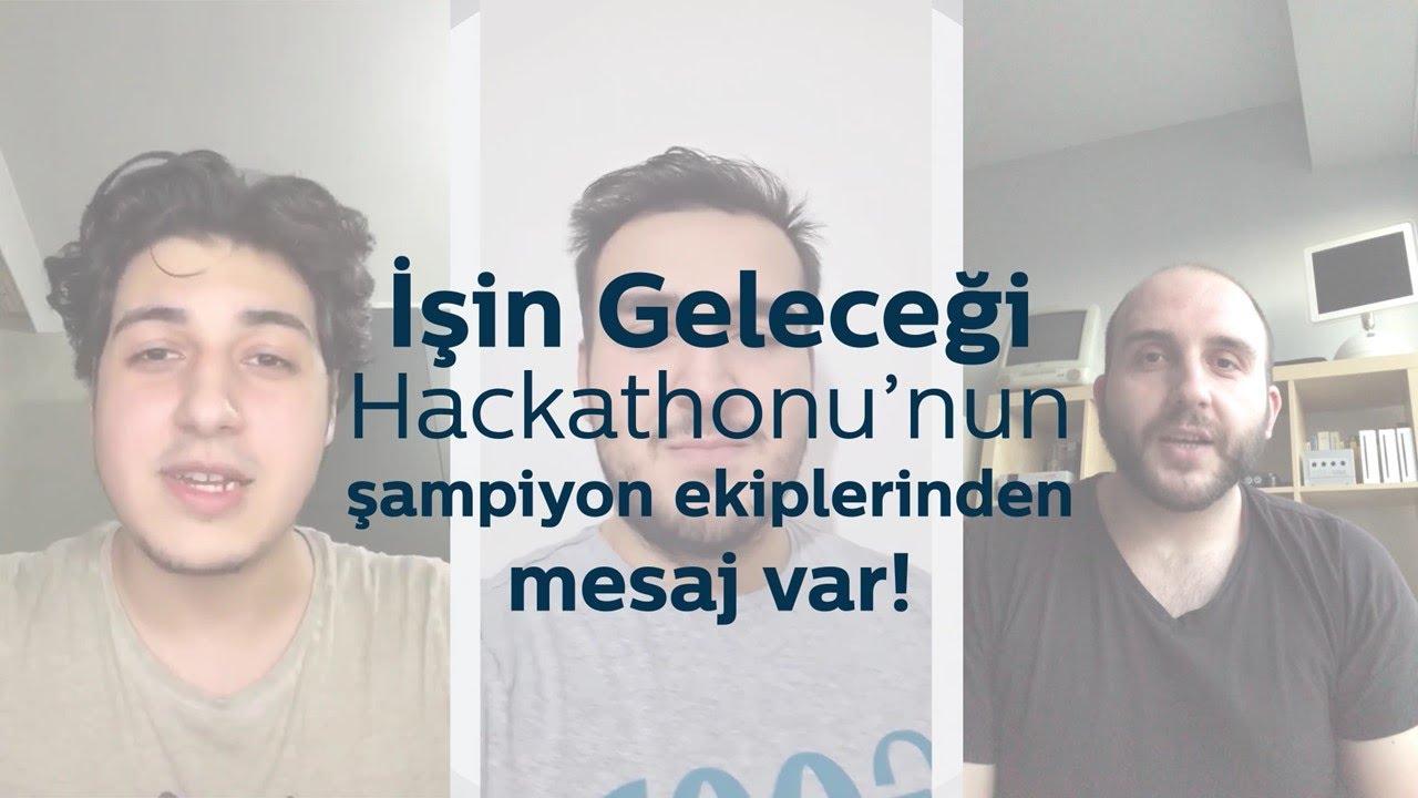 """İşin Geleceği"""" Hackathonu Şampiyon Ekiplerimizden Mesaj Var"""