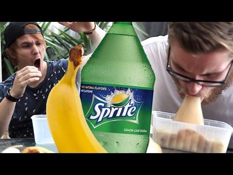 Banana And Sprite Challenge (extreme vomit warning)