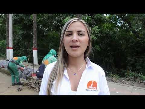Estudiantes del colegio Pablo Neruda y EMAAR realizaron jornada de limpieza en  Avenida la Asamblea