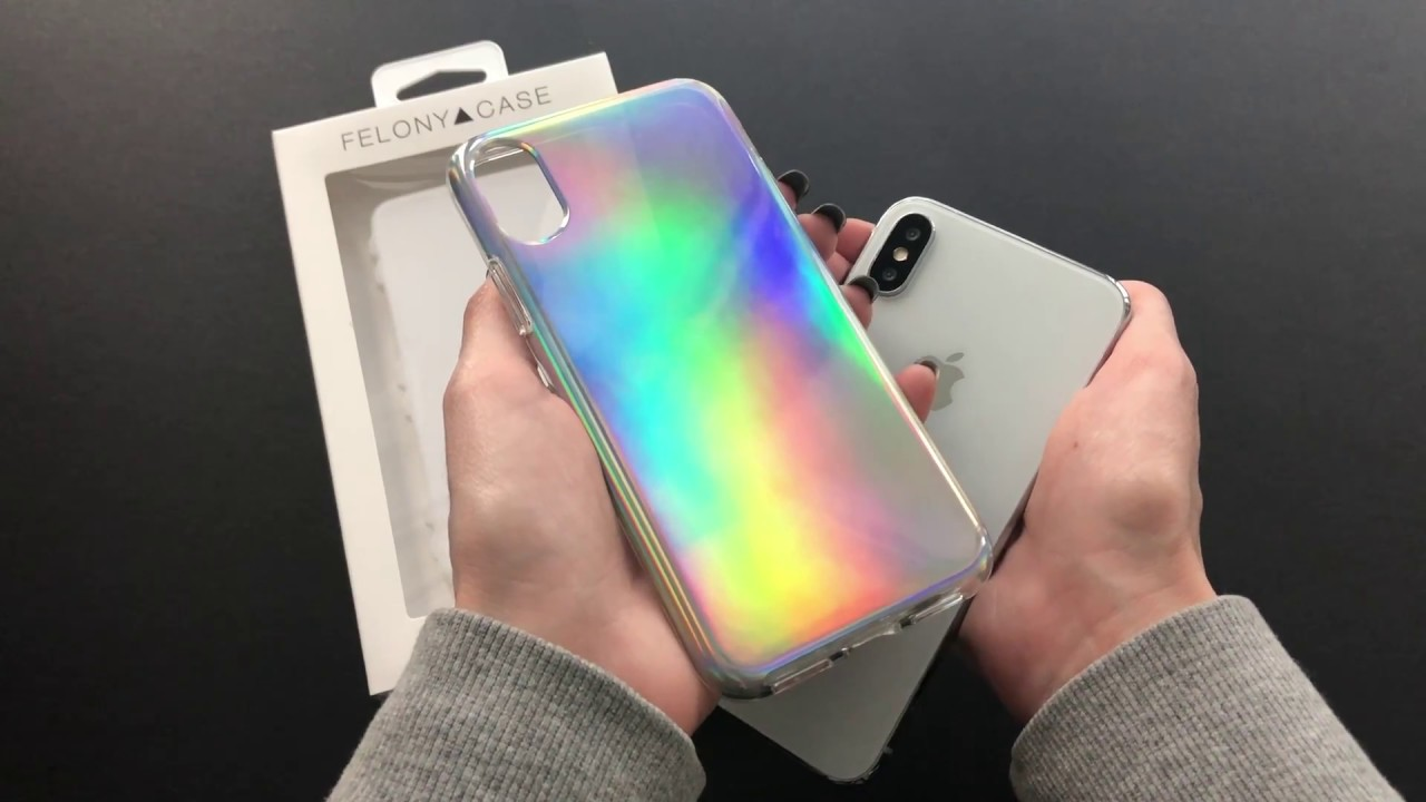 best service 81b02 86f78 FELONY CASE // Aura Holographic Case for iPhone X