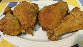 How To Make Extra Crispy Southern Fried Chicken - Oven Fried No Oil