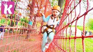 ВЛОГ в Веревочном Парке! Кристина Альпинист! Развлечения для Детей!