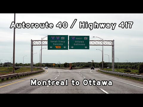 2019/06/25 - Autoroute 40 / Highway 417 West - Montreal To Ottawa