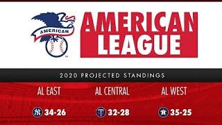 MLB baseball league;  American league points table; National league table;
